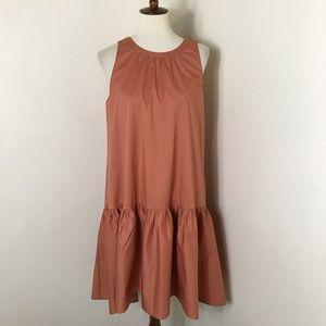 Hatch maternity stretch poplin ruffle dress